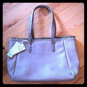NWT Urban Expressions Faux Leather Taupe Tote Bag